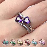 Double Heart Ring  - Multiple Colors To Choose From!
