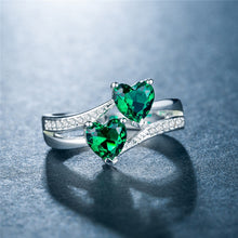 Load image into Gallery viewer, Double Heart Ring  - Multiple Colors To Choose From!