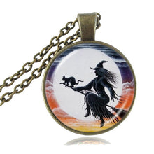 Load image into Gallery viewer, Witch Themed Pendant Collection. Hauntingly Beautiful!