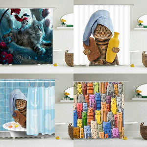 Fun and Happy, Artistic Shower Curtains! - Multiple Styles Available