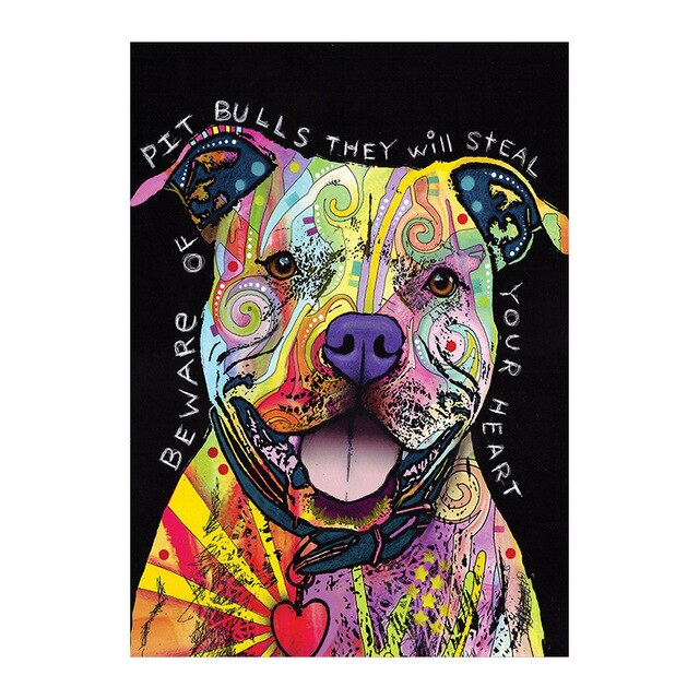 Pit Bulls Will Steal Your Heart - Canvas Print