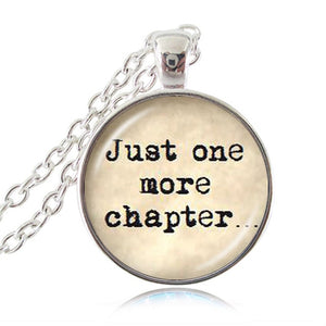 Just One More Chapter Pendant Necklace