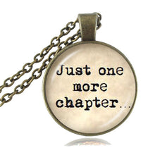Load image into Gallery viewer, Just One More Chapter Pendant Necklace