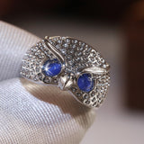 Fierce and Beautiful Owl Ring. High Quality Imitation Opal!