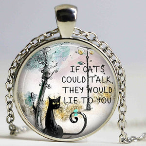 If Cats Could Talk Pendant Necklace
