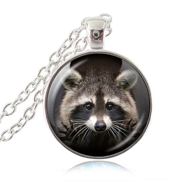 Cute Raccoon Pendant Necklace