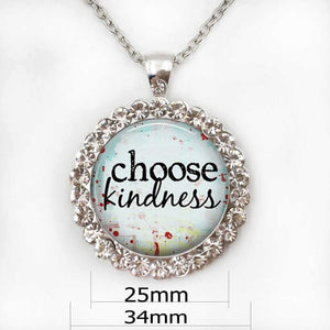 Choose Kindness Pendant Necklace