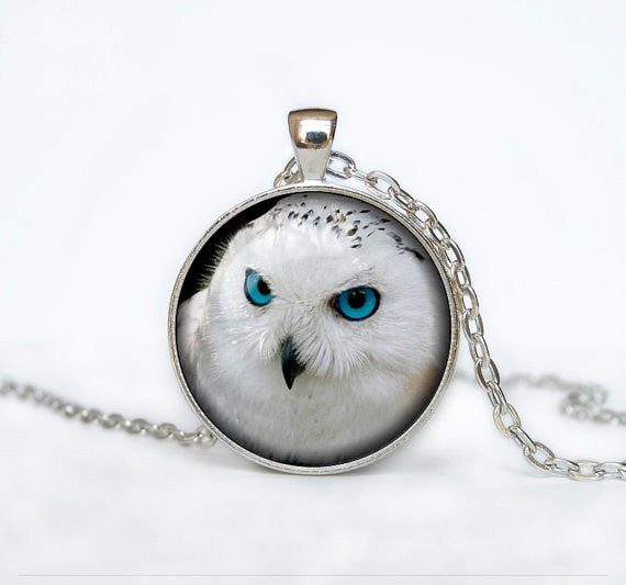Snow Owl Pendant Necklace