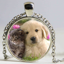 Load image into Gallery viewer, Cute Dog and Cat Pendant Necklace