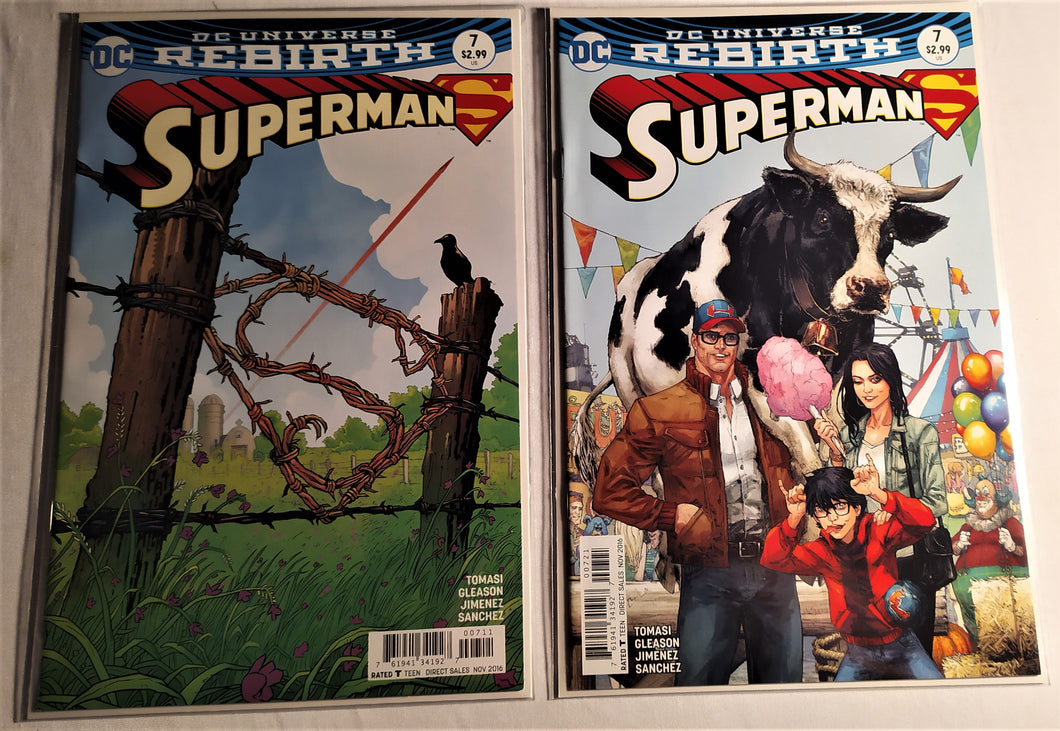 DC Rebirth Superman #7 - Two Different Cover Versions!