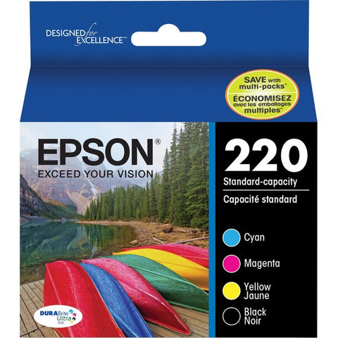 Epson Epson DURABrite Ultra 220 Original Ink Cartridge Combo Pack - Black, Cyan, Magenta, Yellow
