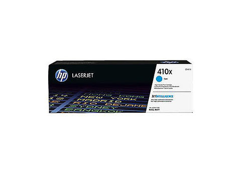 HP 410X (CF411X) Color LaserJet Pro M452 MFP M477 High Yield Cyan Original LaserJet Contract Toner Cartridge (5000 Yield)