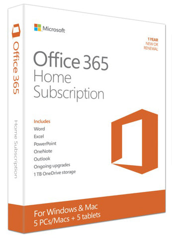 Microsoft Corporation  Office 365 Home Subscription + Exclusive Upgrades and New Features - 5 PC/Mac