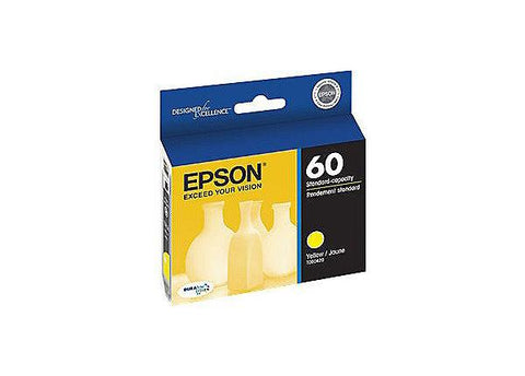 Epson (60) Stylus C68 C88 C88+ CX3800 CX3810 CX4200 CX4800 CX5800F CX7800 Yellow Ink Cartridge (600 Yield)