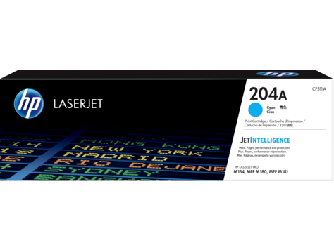 HP 204A (CF511A) Cyan Original LaserJet Toner Cartridge (900 Yield)