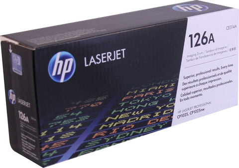 HP 126A (CE314A) Color LaserJet CP1025nw MFP M175nw M177fw M275 Original LaserJet Imaging Drum (Black 14000 Color 7000 Yield)