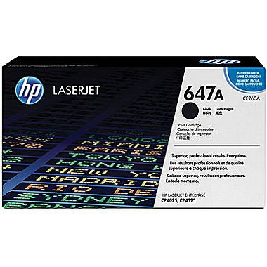 HP 647A (CE260A) Black Original LaserJet Toner Cartridge (8500 Yield)