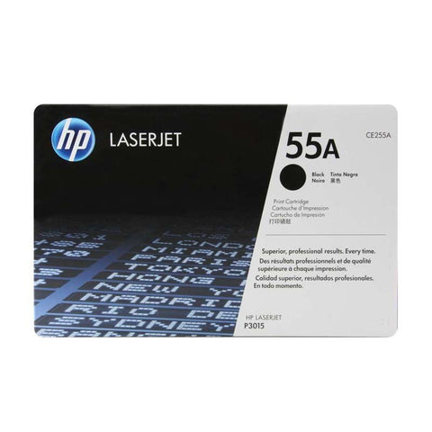 HP 55A (CE255A) Black Original LaserJet Toner Cartridge (6000 Yield)