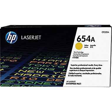 HP 654A (CF332A) Yellow Original LaserJet Toner Cartridge (15000 Yield)