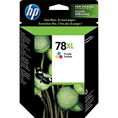 HP 78XL (C6578AN) High Yield Tri-Color Original Ink Cartridge (1200 Yield)