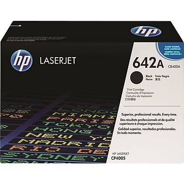 HP 642A (CB400A) Color LaserJet CP4005 Black Original LaserJet Toner Cartridge (7500 Yield)