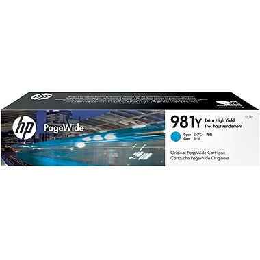 HP 981Y (L0R13A) PageWide Enterprise Color 556 586 Managed Color E55650 E58650 Extra High Yield Cyan Original PageWide Cartridge (16000 Yield)