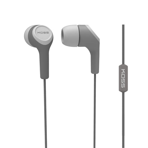 Koss Corporation  InEar Bud with Mic Gray