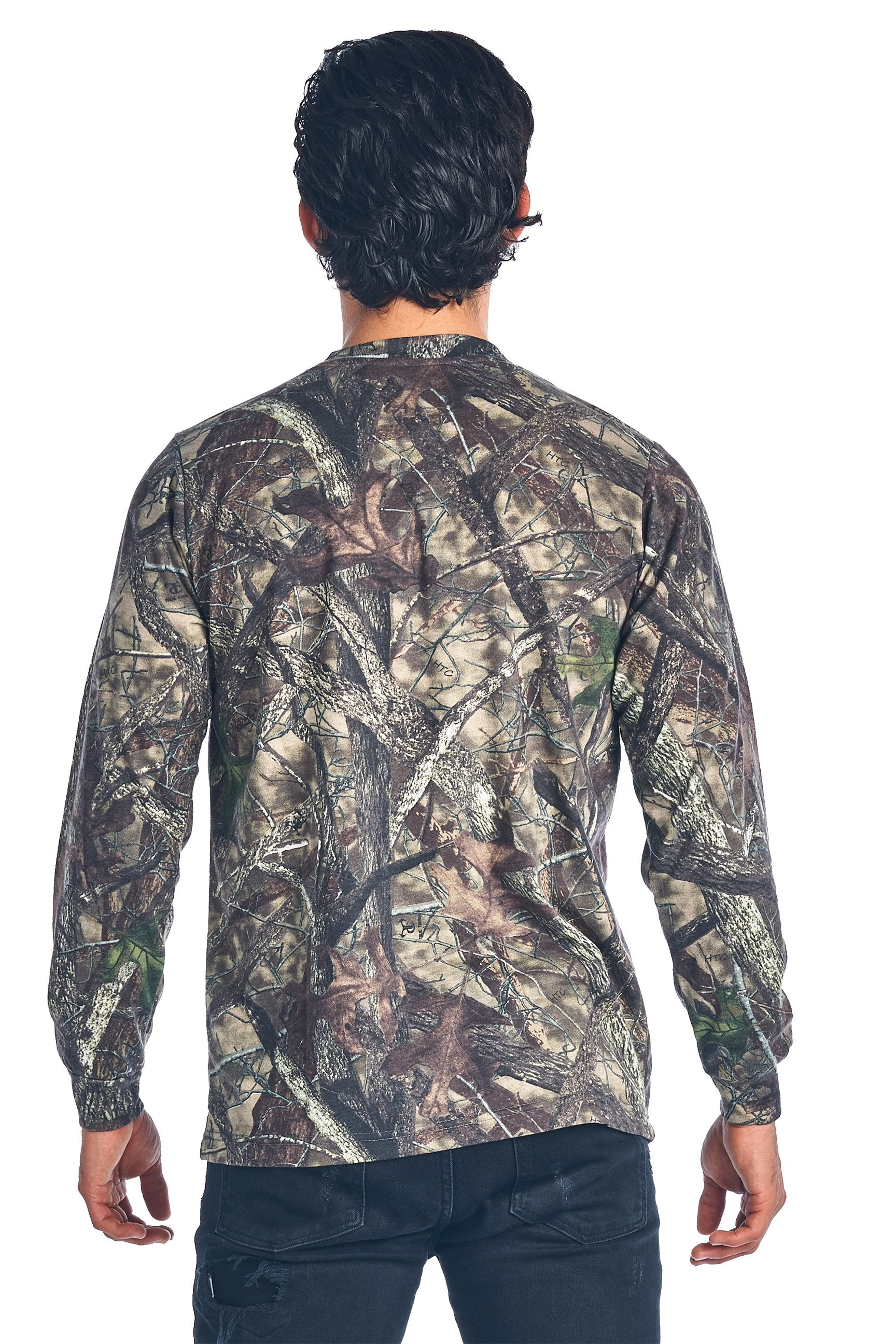 Camo Hunting Long Sleeve Shirt W/ PocketCamouflage Authentic True Timber S-5xl