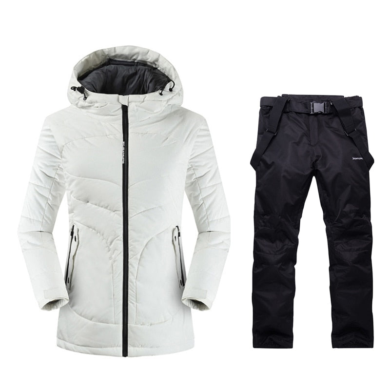 2019 Womens Mountain Skiing Outdoor Winter Jacket and Pants