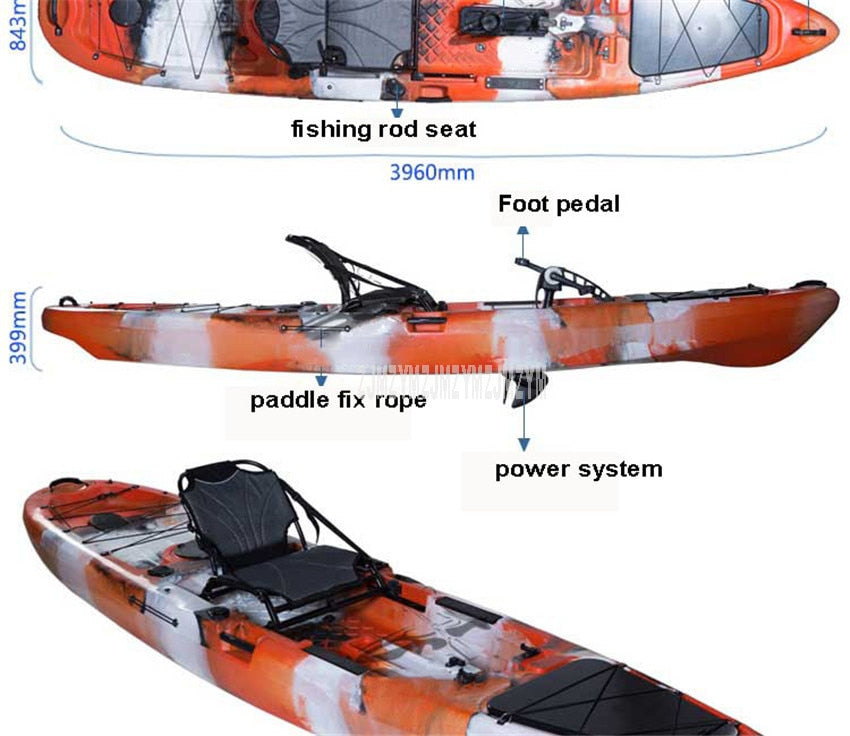 12ft Professional Fishing Pedal Kayak