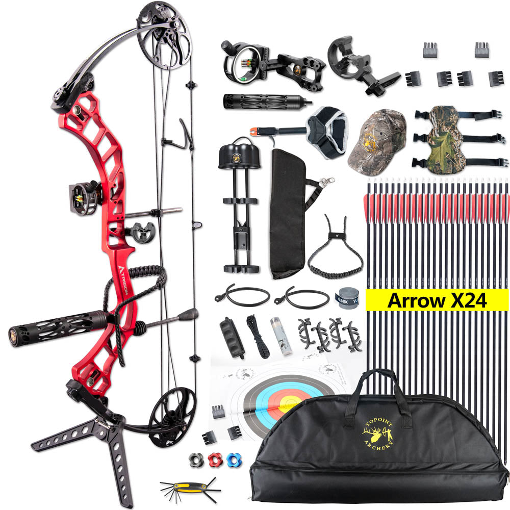 Topint 19-70 lbs Compound Bow Right Hand Adjustable Bow Set