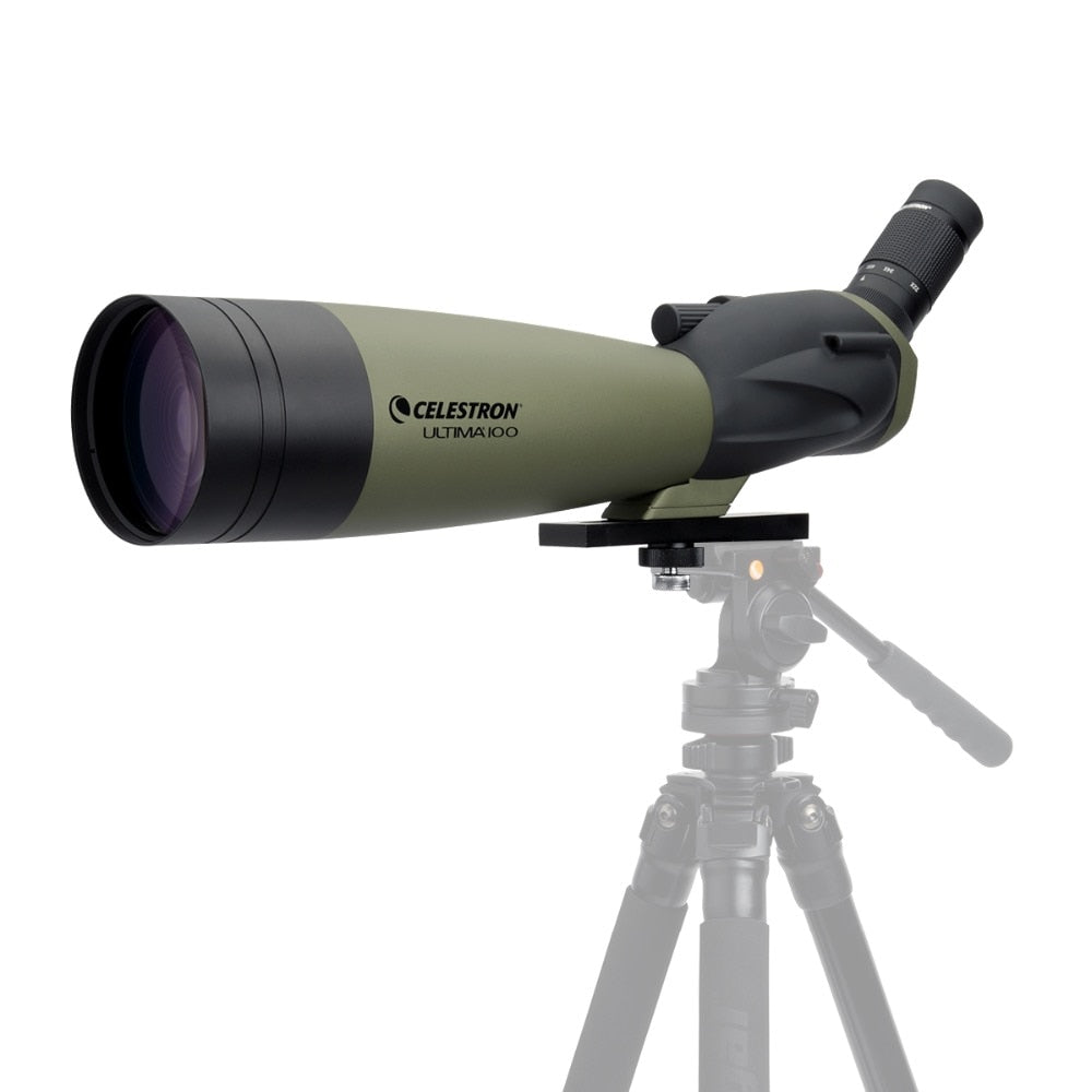 Celestron ULTIMA100 45 Degree Refractor Spotting Scopes 22x-66x Zoom Telescope Multi-Coated for Bird Watching Hunting Travel
