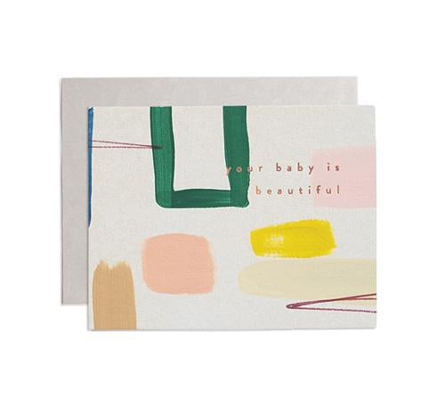 Beautiful Baby Abstract Card
