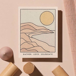 Gather Coastline Love Celebrate Card