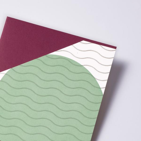 Vesuvius Waves Card