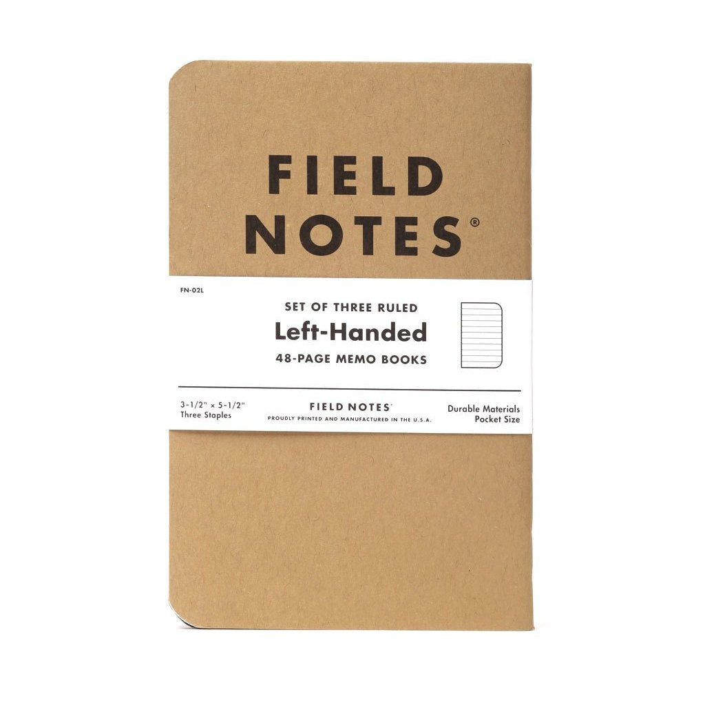 Left-Handed Field Notes Notebooks (3-Pack)