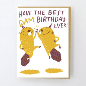 Best Dam Birthday Beavers Card