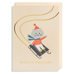 Cat Season's Greetings Card