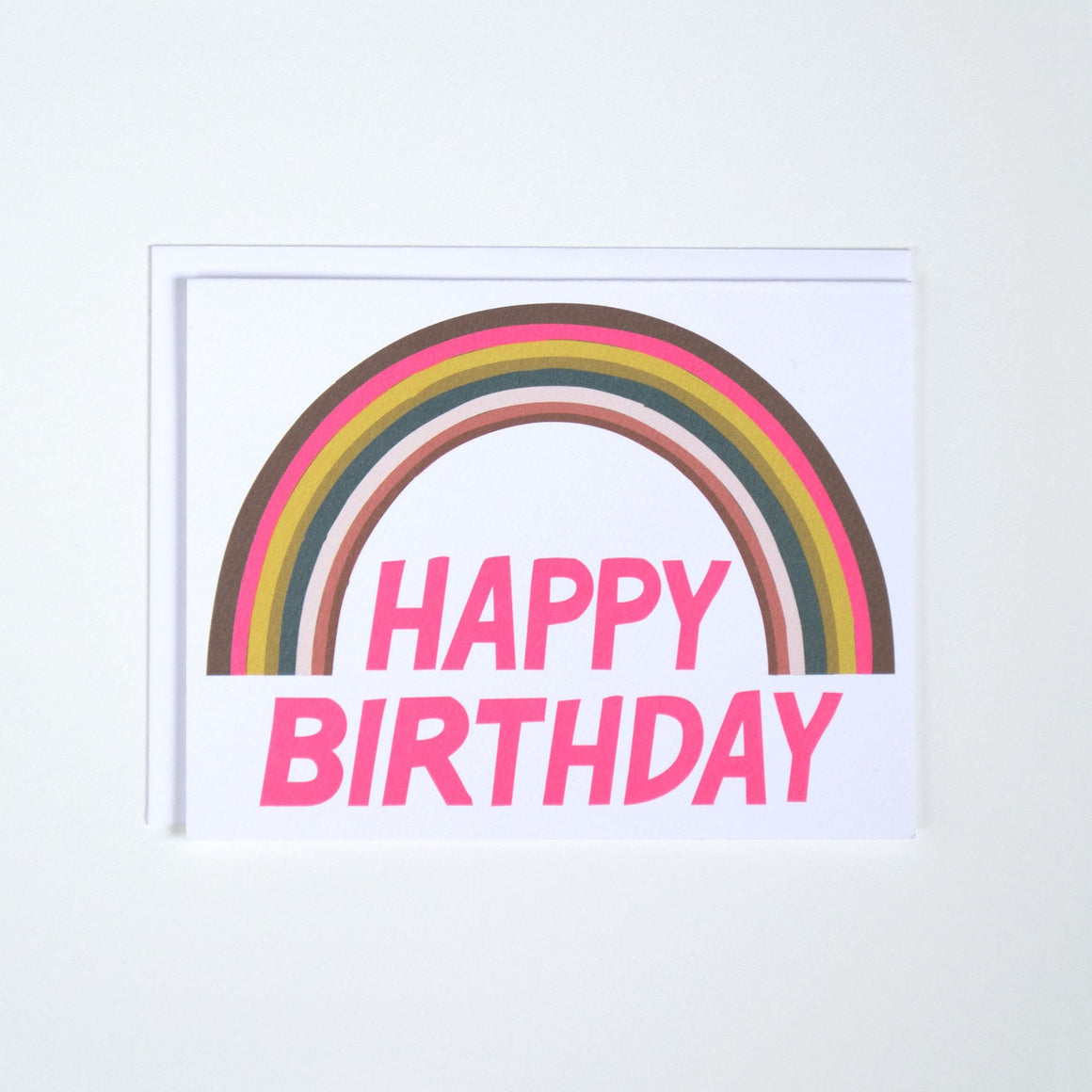 Rainbow Happy Birthday Card