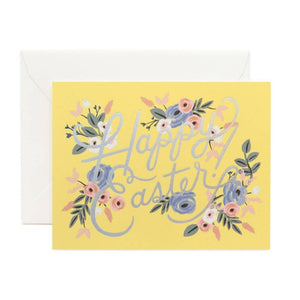 Floral Happy Easter Card