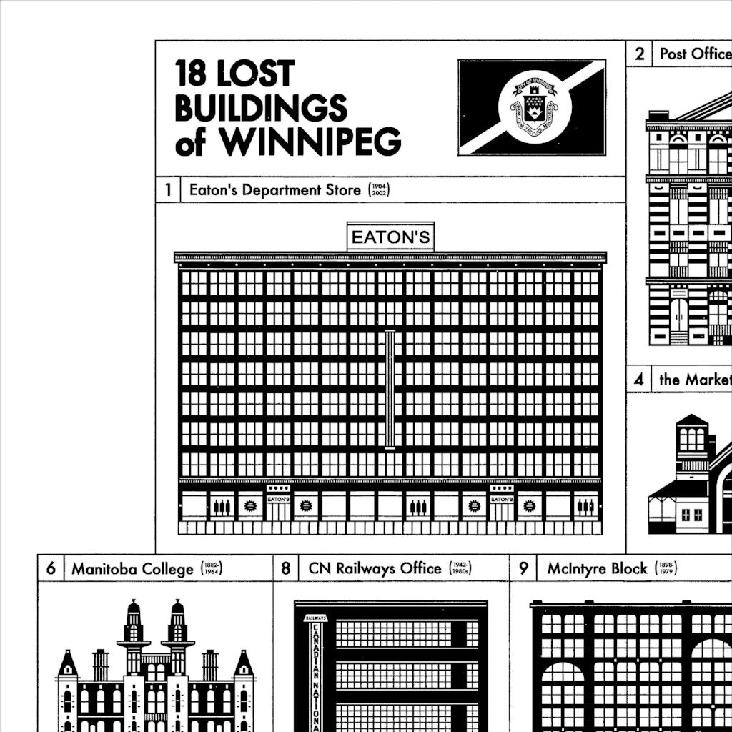 Lost Buildings of Winnipeg Print