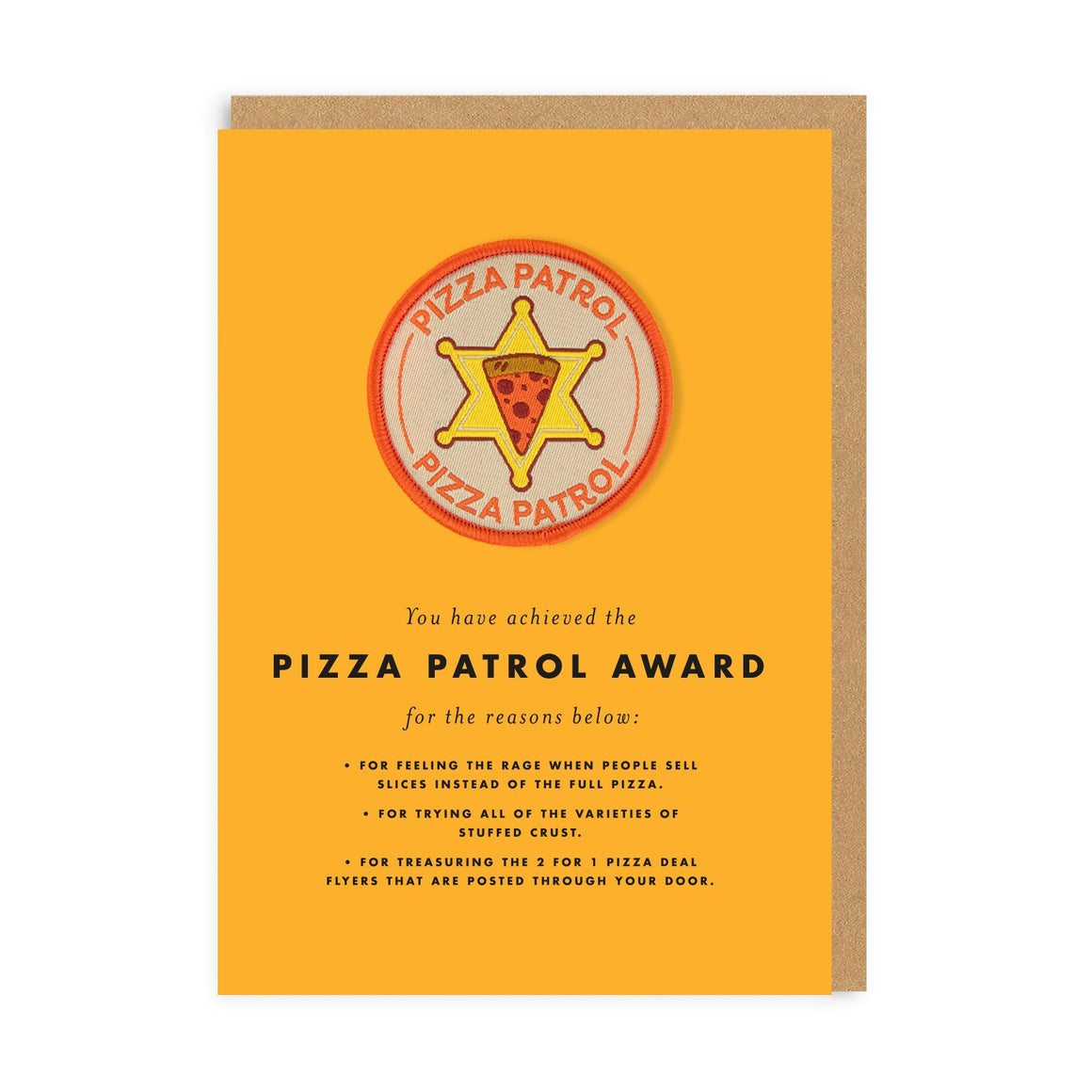 Pizza Patrol Card + Patch