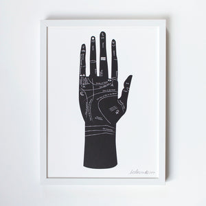 Palmistry Screen Print