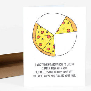 Half Pizza Card