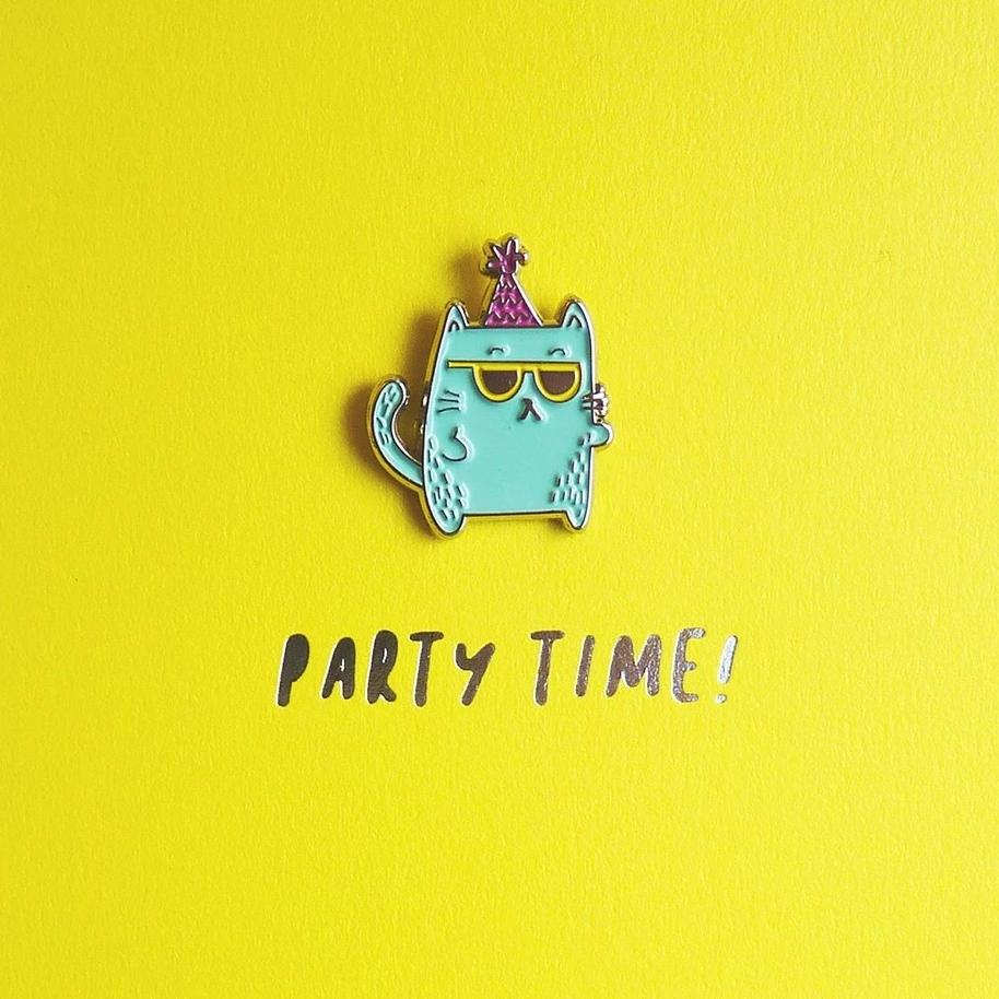 Party Time! Enamel Pin Card
