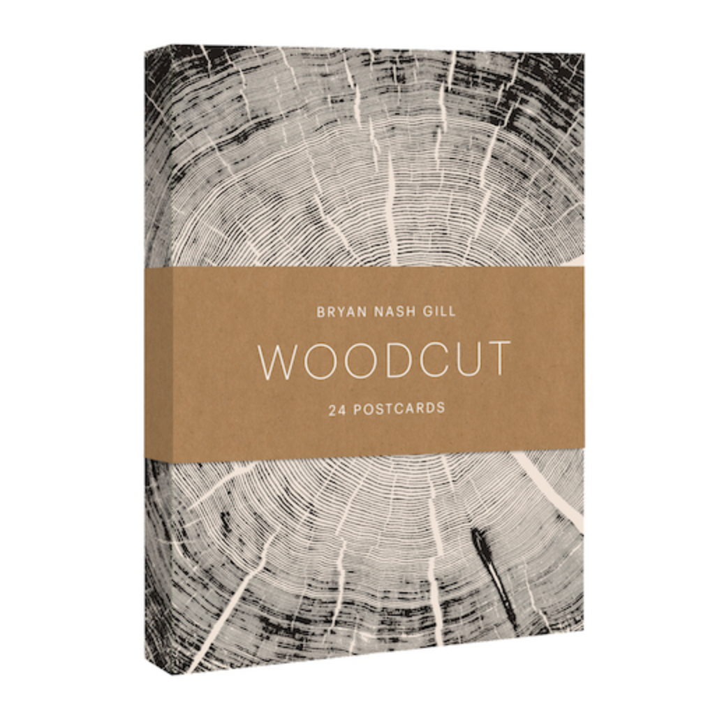 Woodcut Postcards Set (24-Pack)