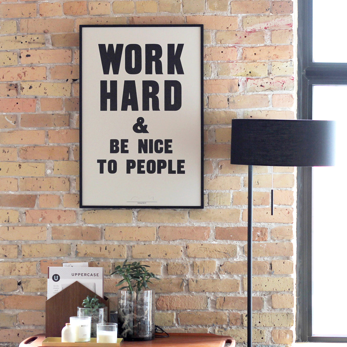 Anthony Burrill Work Hard Print