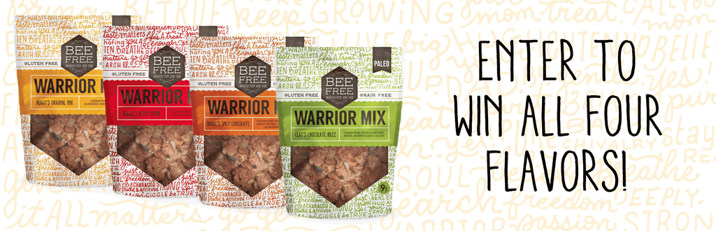 Enter to win a warrior mix gift basket beefree gluten free bakery over the next few months well be giving away four warrior mix sampler baskets each basket will have all four delicious flavors of warrior mix gluten free negle Choice Image