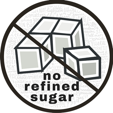 no refined sugar