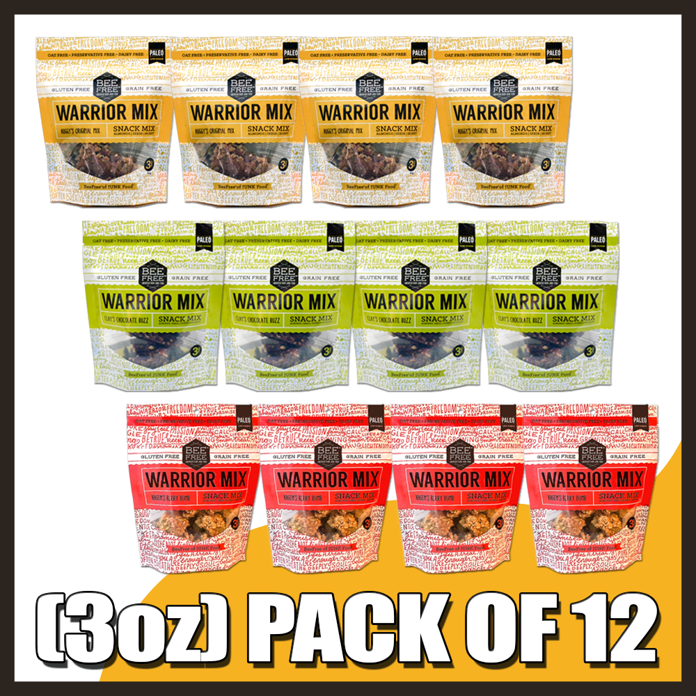 Assorted WARRIOR MIX 3oz case (12 bags)